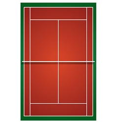 Top view of tennis court vector