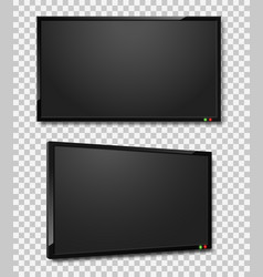 Tv screen realistic led or lcd vector