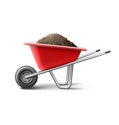 Vecror red wheelbarrow vector