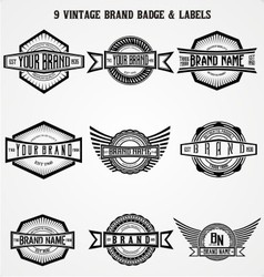 Vintage brand badge labels vector
