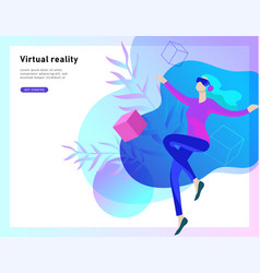 virtual augmented reality glasses concept with vector image