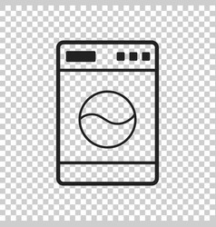 Washer flat icon laundress sign symbol flat on vector