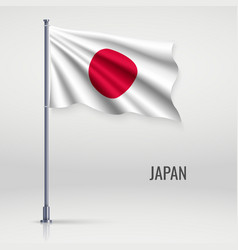 Waving flag on flagpole vector