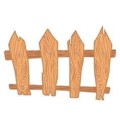 Wooden cartoon fence vector image