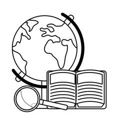 world map cartoon vector image