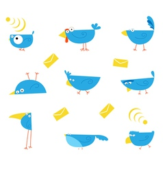 bluebirds communications character vector image vector image