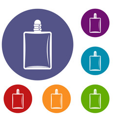 bottle of female perfume icons set vector image vector image