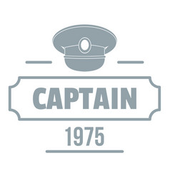 Captain logo simple gray style vector