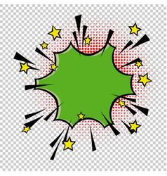 comic speech bubble element halftone circle on vector image