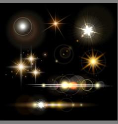 golden lighting effects vector image
