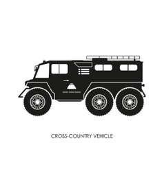 Silhouette of the cross-country vehicle vector image