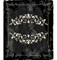Template for cover with a menu on the vintage vector