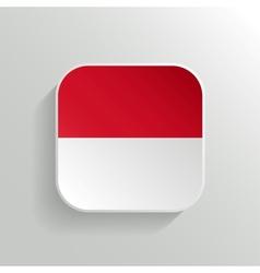 Button - Indonesia Flag Icon vector image
