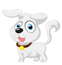Cute cartoon baby dog posing vector image vector image