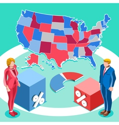 Election infographic us president isometric people vector