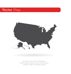 map usa isolated black on vector image