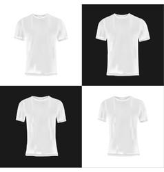 Men and women t-shirt design template vector image