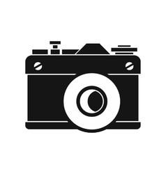 Retro camera icon simple style vector image vector image