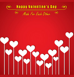 valentine card with cute heart vector image vector image
