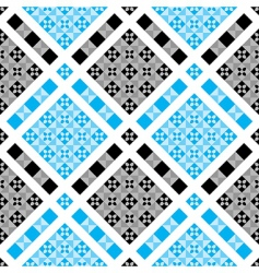 vector checked pattern vector image vector image