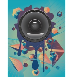 Abstract Audio Speaker vector image vector image