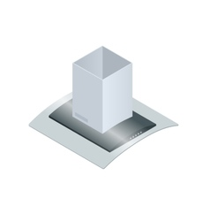Extractor hood for kitchen vector image