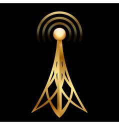 gold antenna vector image