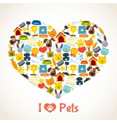 Pets care concept vector image vector image