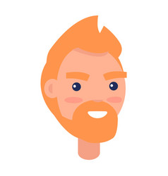 red male character face front view vector image vector image