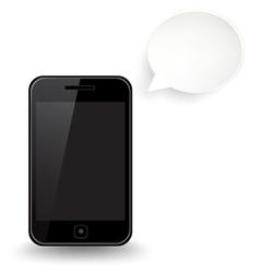 Smart Phone Speech Bubble vector image