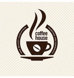 Vintage coffee label vector image vector image