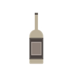 wine bottle glass isolated alcohol background vector image