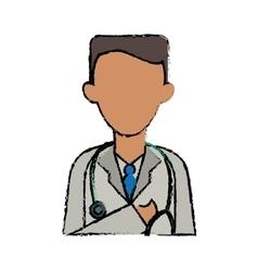 cartoon doctor healthcare professional clinic vector image