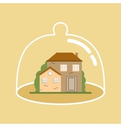 House Under Protection vector image