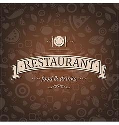 Retro Brown Restaurant Menu vector image vector image
