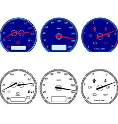 Set of car speedometers for racing design vector image vector image
