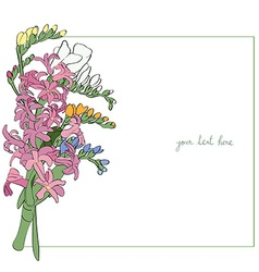 spring bouquet sparse card vector image