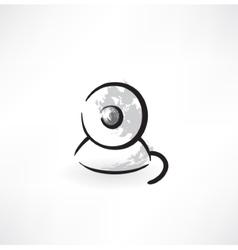 web cam grunge icon vector image vector image