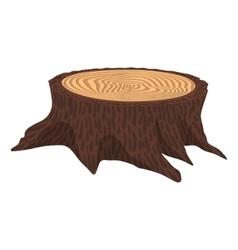 Wooden cartoon stump vector image vector image