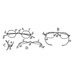 A collection of spectacles vintage engraving vector