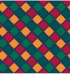Abstract geometric pattern from rhombus vector image