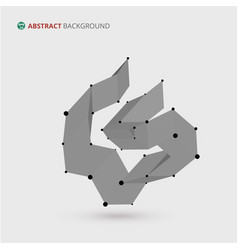 Abstract of geometric free shape background vector
