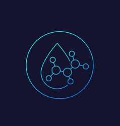 Acid drop icon linear vector