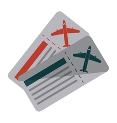 Airline ticket pass airplane vector