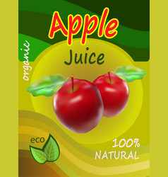 apple juice template packaging design illus vector image