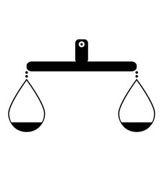 balance or libra icon black color icon vector image