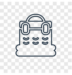 basket concept linear icon isolated on vector image