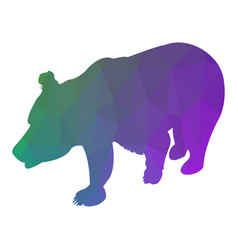 bear silhouette abstraction low poly style vector image