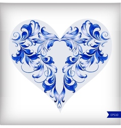 Beautiful heart for Valentines Day background vector image