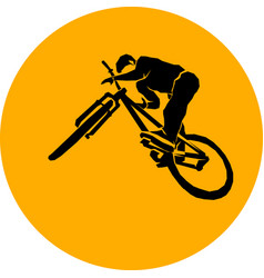 Bicycle mtb trick jump vector